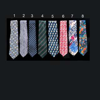 Branded neck ties, all selling at one go