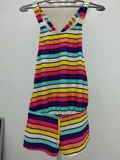 Rainbow swimsuit baju renang