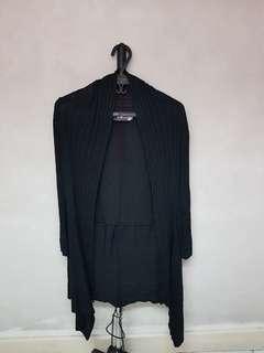Tango Long Black Cardigan