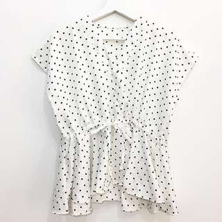 SALE!! Polkadot Top White