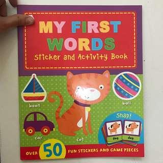 Buku stiker / sticker book my first words