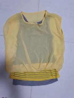 Ladies Yellow 2pc Top