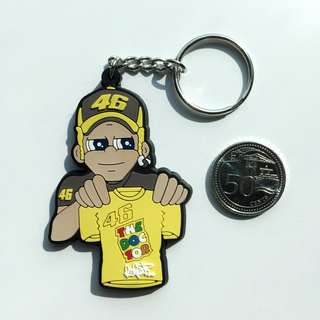 BN Valentino Rossi The Doctor VR46 3D Rubber Keychain