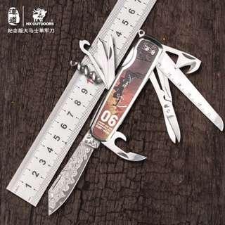 Multifunction Folding Knife The Founding of An Army Damascus Knife 建军大业纪念版大马士革多功能折叠刀DD-09