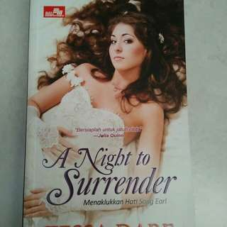 Buku novel Tessa dare/ a night to surrender