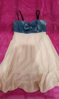 Flowy pink and blue dress