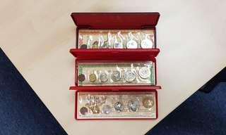 1986, 1987, 1988 Singapore UNC Coin Set