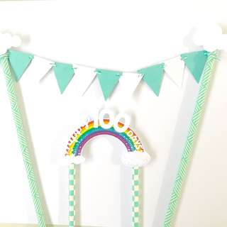 Happy 100 days cake Banner
