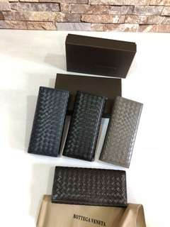 Bottega Wallet Unisex,  w18.5xh9cm, MirrorQuality