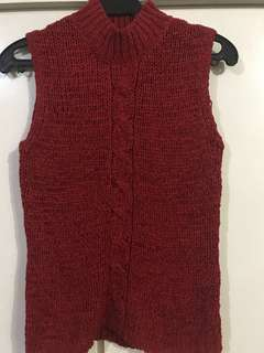 Liz Clairborne Red Knitted Sleeveless Top