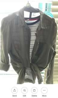 H&M Olive green outerwear