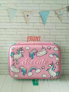 Kotak Pensil Unicorn Pink