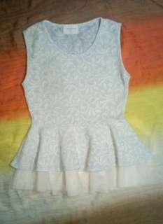 Baby blue sleeveless top