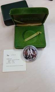 1984 Solomon Islands Olympic Games 1 Oz Silver Proof Coin