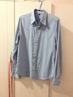 淺藍色男友襯衫 質感超好