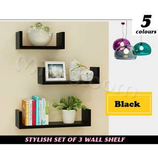 Wall Shelves Set of 3