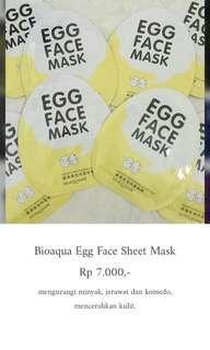bioaqua egg face sheet mask