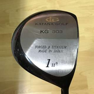 """CLEARANCE SALES {Sports Gear - Golf Driver} Almost New Authentic KATANA GOLF Brand FORGED B TITANIUM #1Driver 11Degree High Technology Light Weight Shaft Designed By GRAPHITE DESIGN Made In Japan Superb Long Shift Length 46"""" Come With Original Wood Cover"""