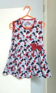 Red polka dots dress