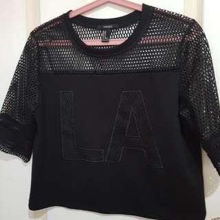 Forever 21 LA Top in black