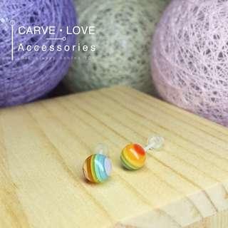 糖果系波波樹脂耳環