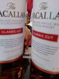 麥卡倫特選2017ClassicCut58.4%威士忌700ml  with box, 香港行貨,每支