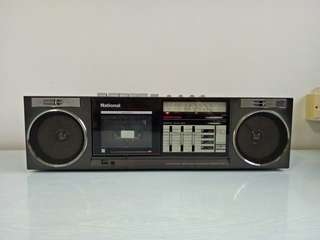 80s National FM Radio is working cassette not working made in Japan