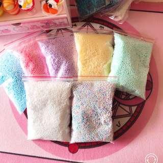 [PO] single colour pastel foam beads