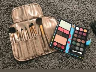 Mac make up pallete. Make up set. Eyeshadow maskara eyebrow pencil foundation bedak tabur all.make up