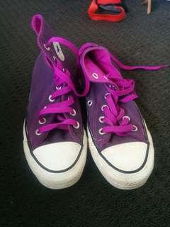 Original purple Converse runners