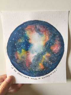 Watercolour Galaxy Artwork