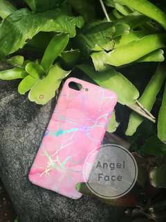 Pink Holo marble case iphone 7+ / 7 plus
