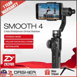 ZHIYUN SMOOTH 4 GIMBAL FOR SMARTPHONE ELECTRONIC 3-AXIS GYRO HANDHELD GIMBAL STABILIZER
