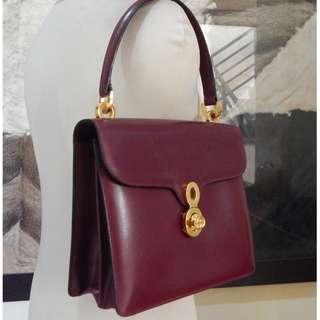GUCCI vintage kelly leather bag