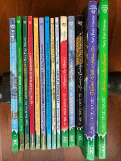 Magic Tree House series by Mary Pope Osborne - 12 soft covers and 2 hard covers