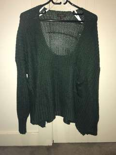Green crop jumper