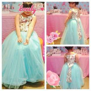 Floral Long dress (semi-gown)