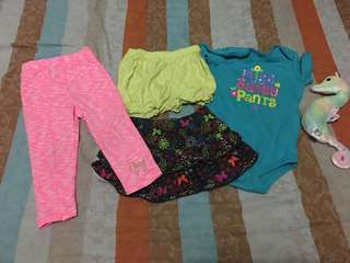 Preloved clothes for baby girl size 18 to 24m.