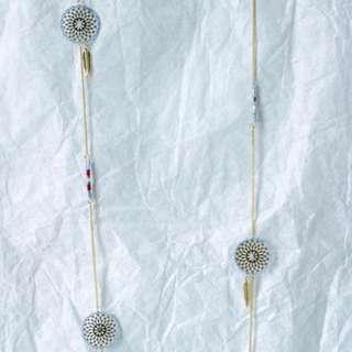 Les Cleias Dreamcatcher Long Necklaces in Blue