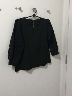 BN Black 3/4 Long Sleeves Top