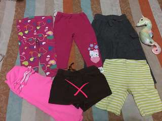 Mix preloved and brandnew baby leggings size 18m.
