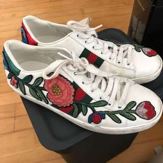 Authentic Gucci Sneakers (37.5 but fits US 9)