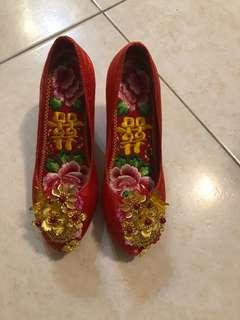 紅鞋 褂鞋 鞋夾 鞋墊