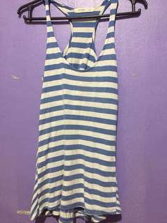 OLD NAVY Blue White Stripes Sando