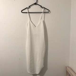 Mini white bodycon dress