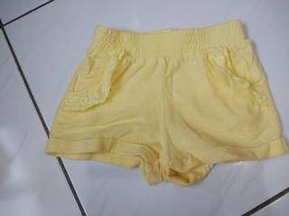 Net黃色幼兒短褲,二手