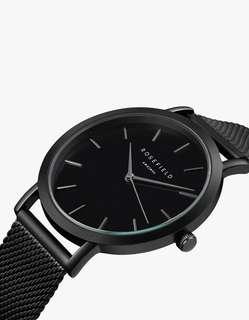 全新行貨 設有門市 Rosefield The Mercer Black Black Watch 手錶