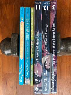 Enid Blyton series - 3 soft and 3 hard cover books
