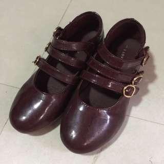 Cute Maroon Shoes