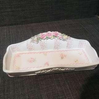 🚚 🌹可愛鄉村玫瑰花🌷首飾盤 營業場所 民宿 裝飾